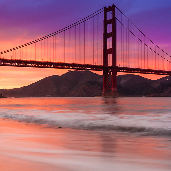 A capture of San Francisco's Golden Gate Bridge