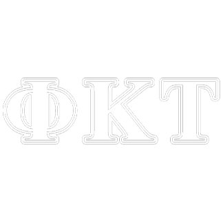 Phi Kappa Tau White and Yellow Letters