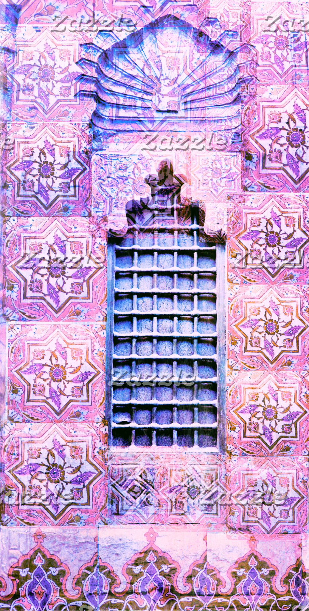 Pink Moroccan Window