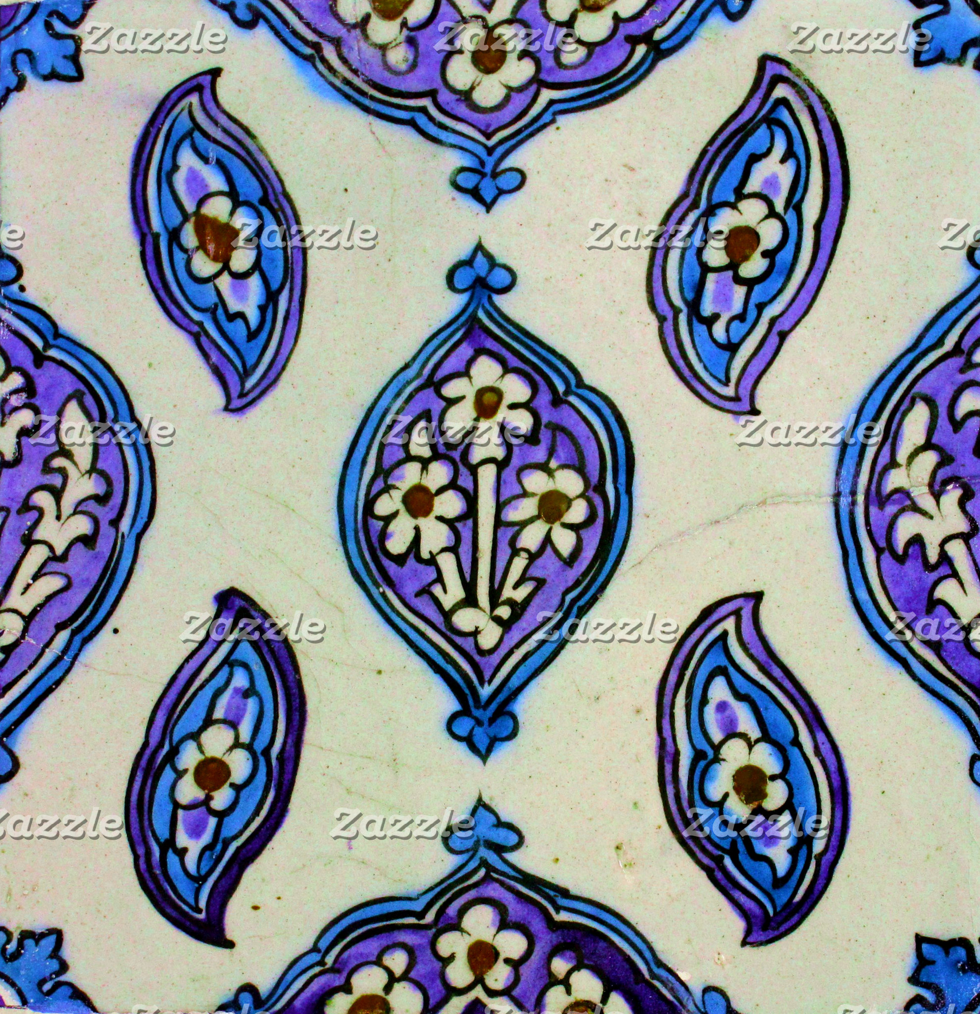Blue and White Ottoman Tile