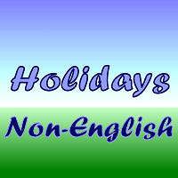 Holidays Non-English