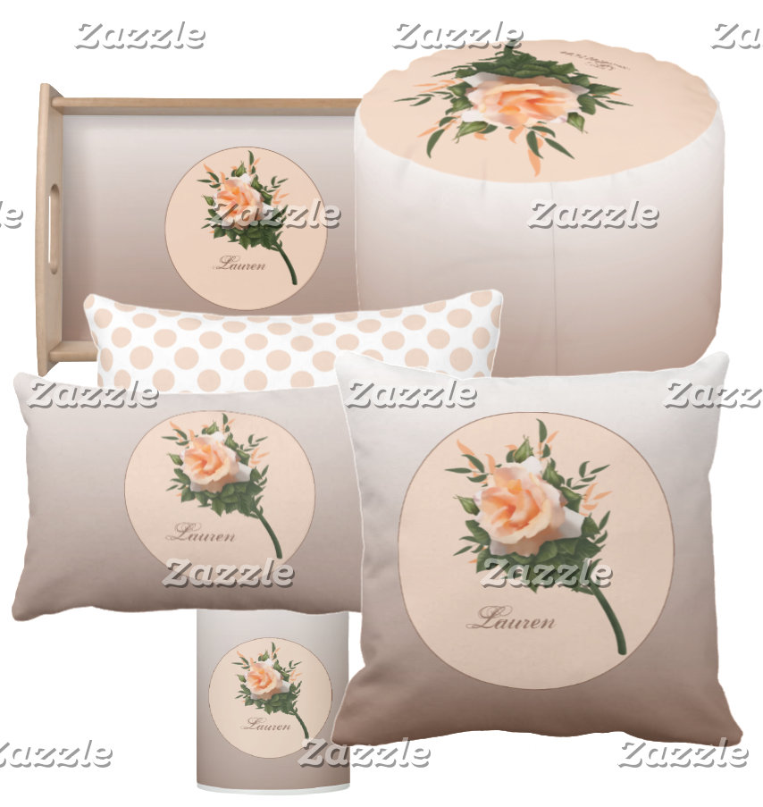 Spring Flower Peach Rose Floral
