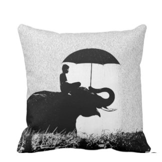 Elephant Rain Art Cushions