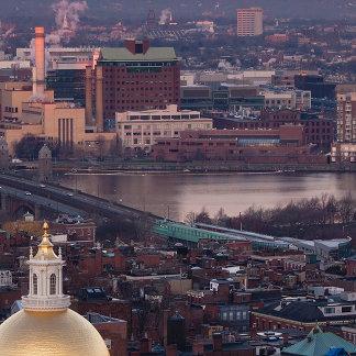 Massachusetts State House, Charles River