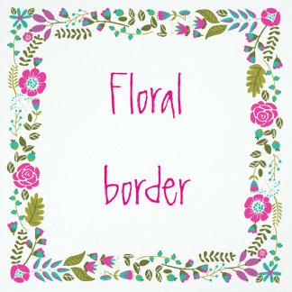 Floral border birthday