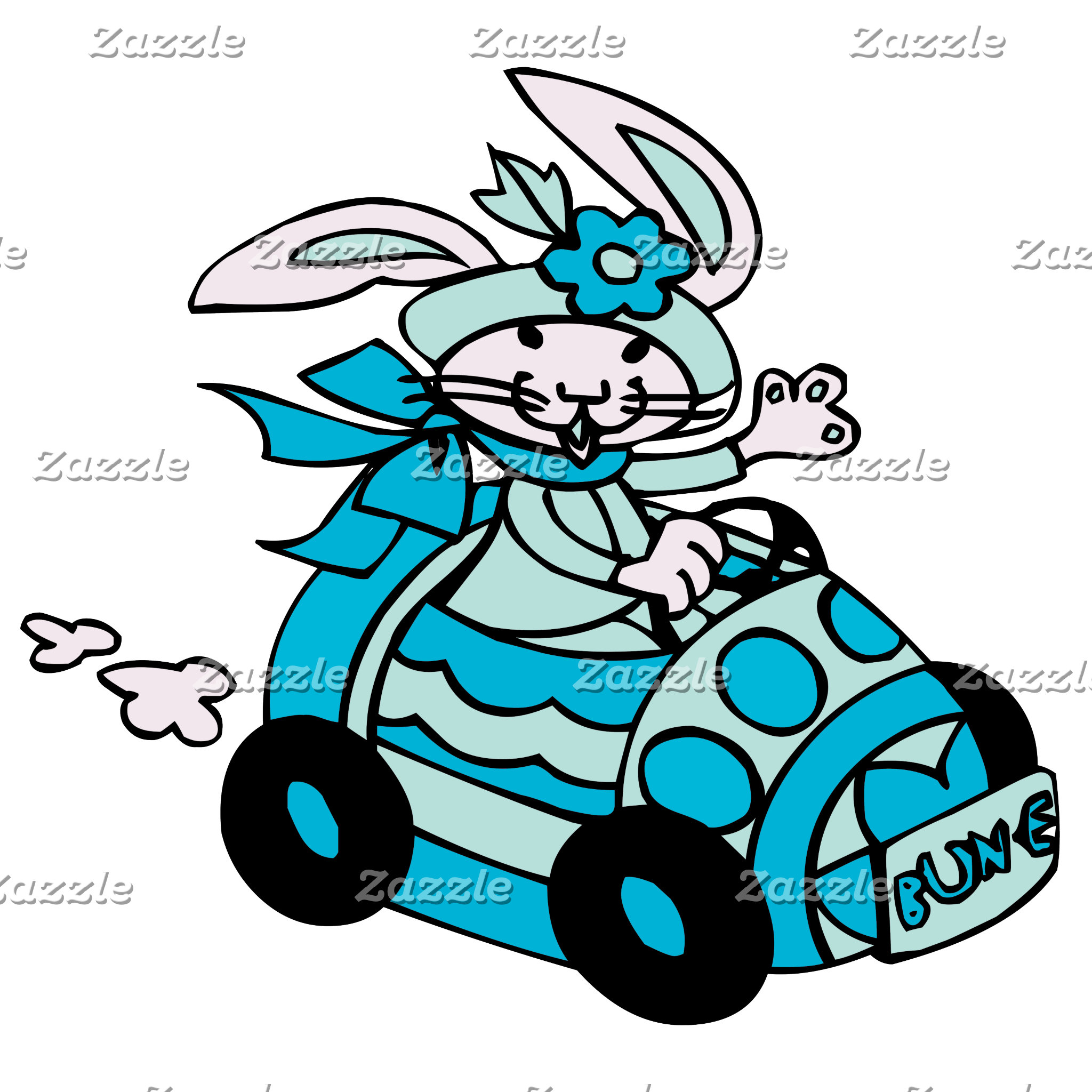 Bunny Easter Egg Car Birds-Egg Blue Bun-E