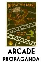 Arcade game propaganda posters