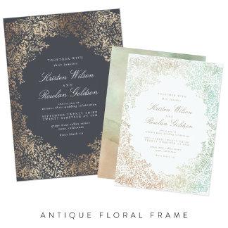 Antique Floral Frame
