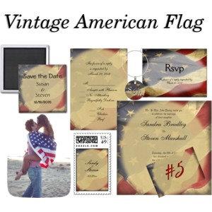 Military American Flag Wedding