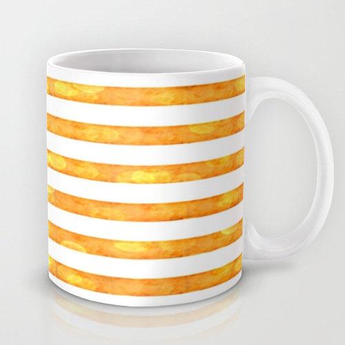 Bokeh Stripes Orange And White
