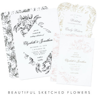 Beautiful Sketched Flowers