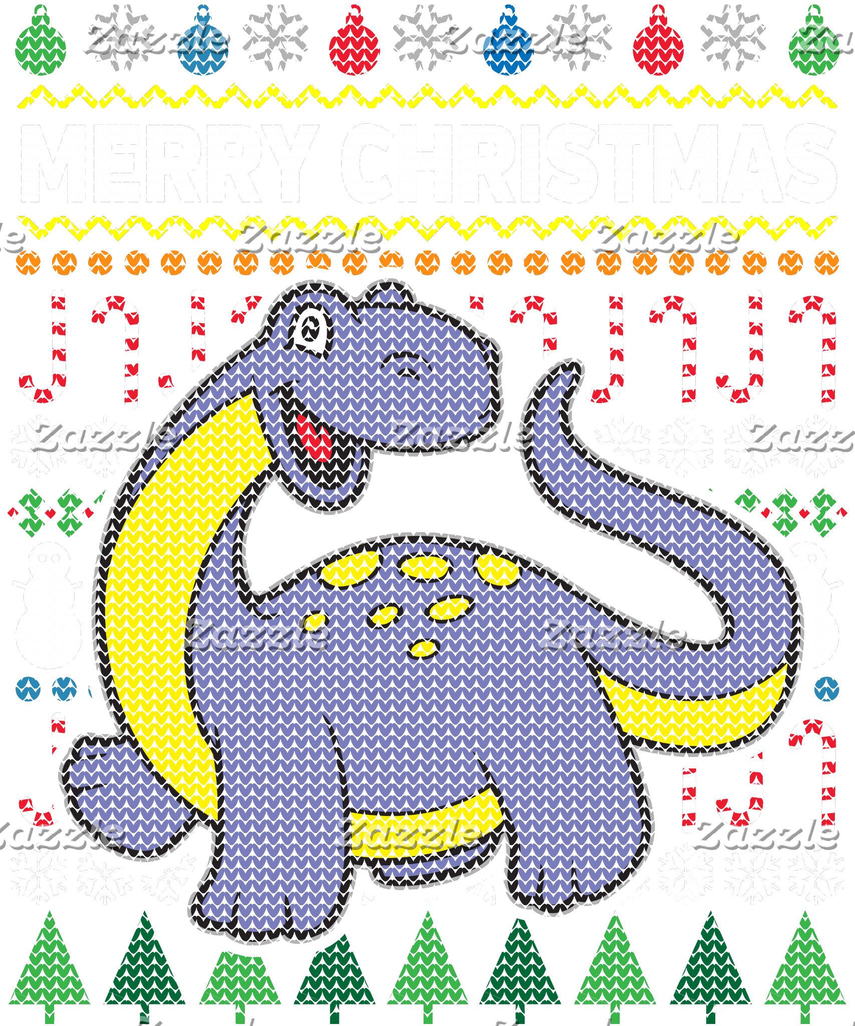 Dino Purple Ugly Sweater