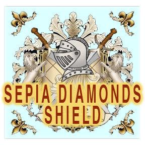 Sepia Diamonds Shield