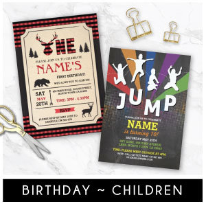 Kid's Birthday Invites