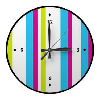 Striped Clock Designs
