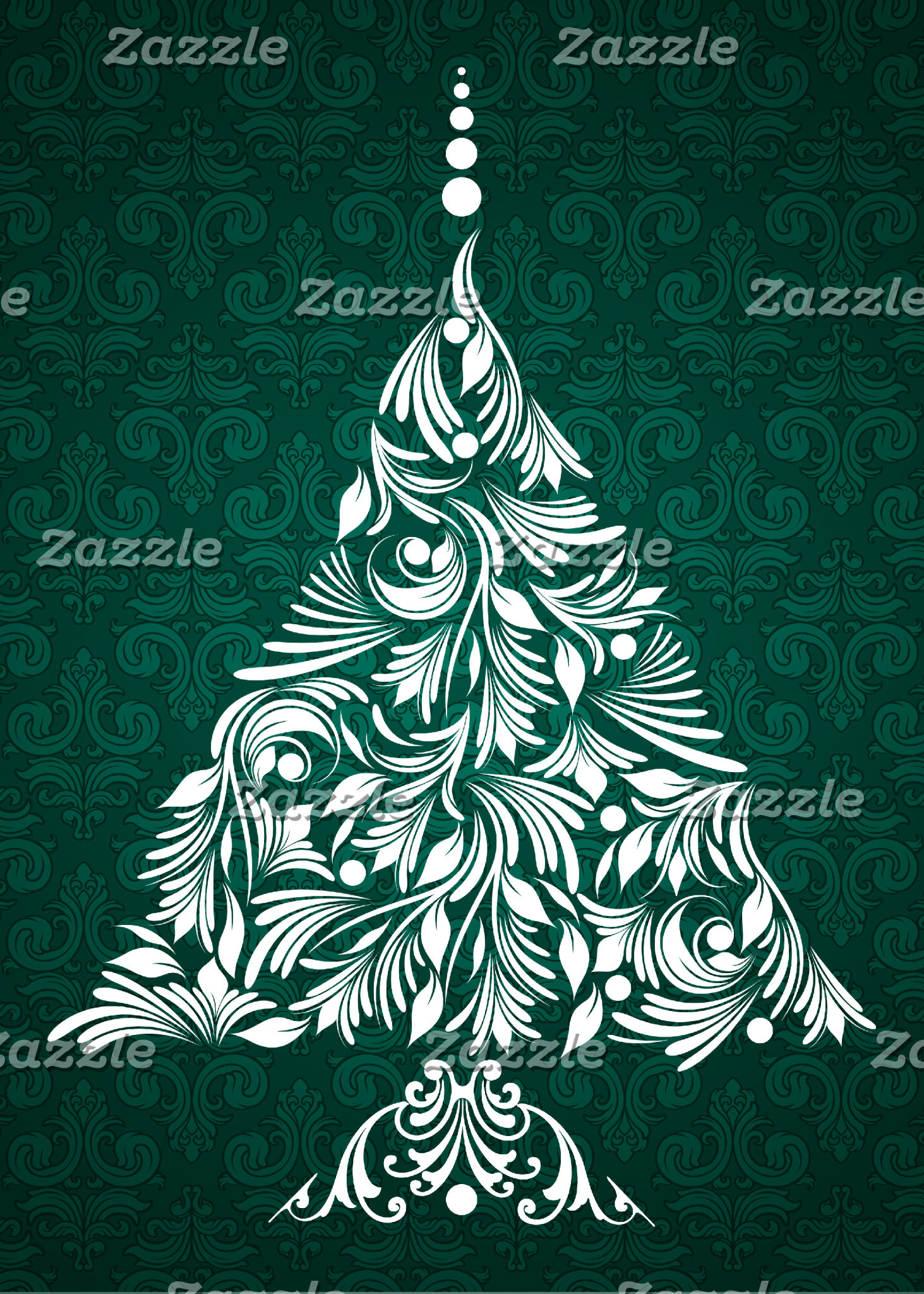 Decorative Christmas Tree Cards and Gifts
