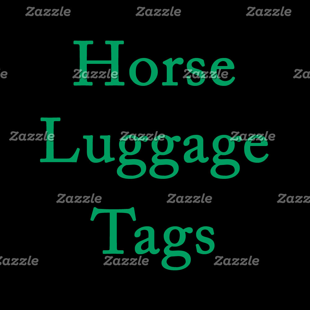 Horse Luggage Tags