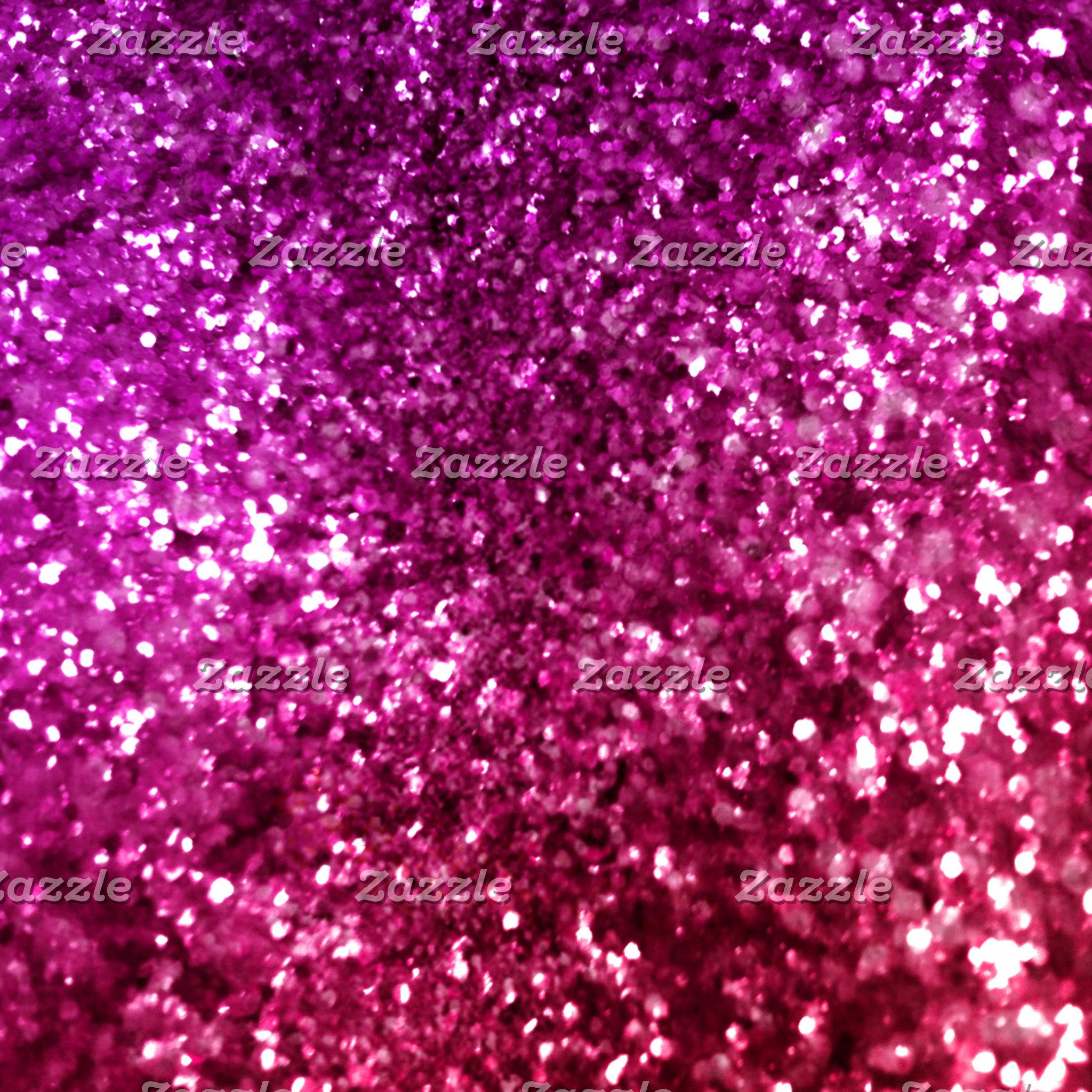 Pretty Pink Faux Glitter