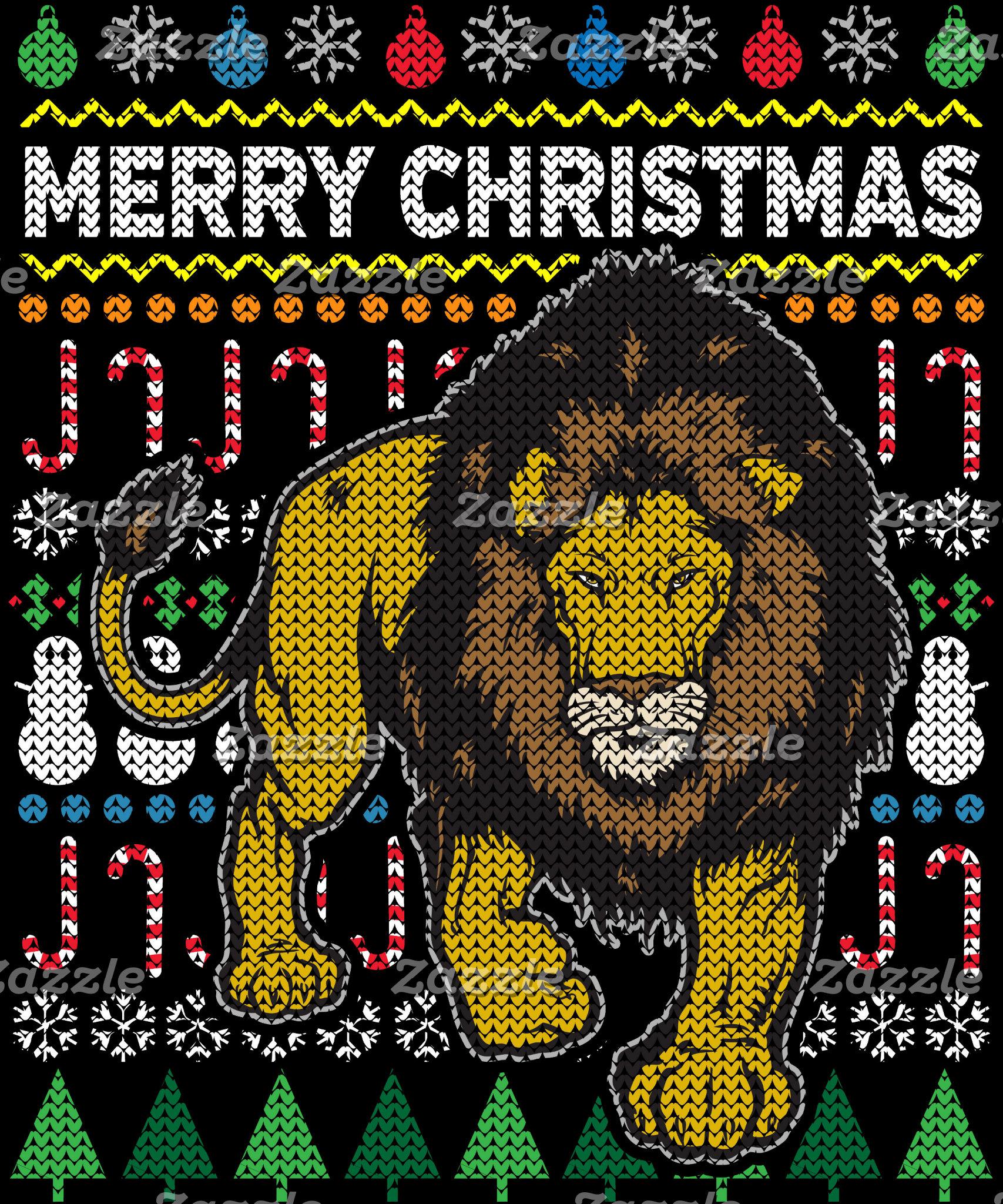 Lion Ugly Christmas Sweater