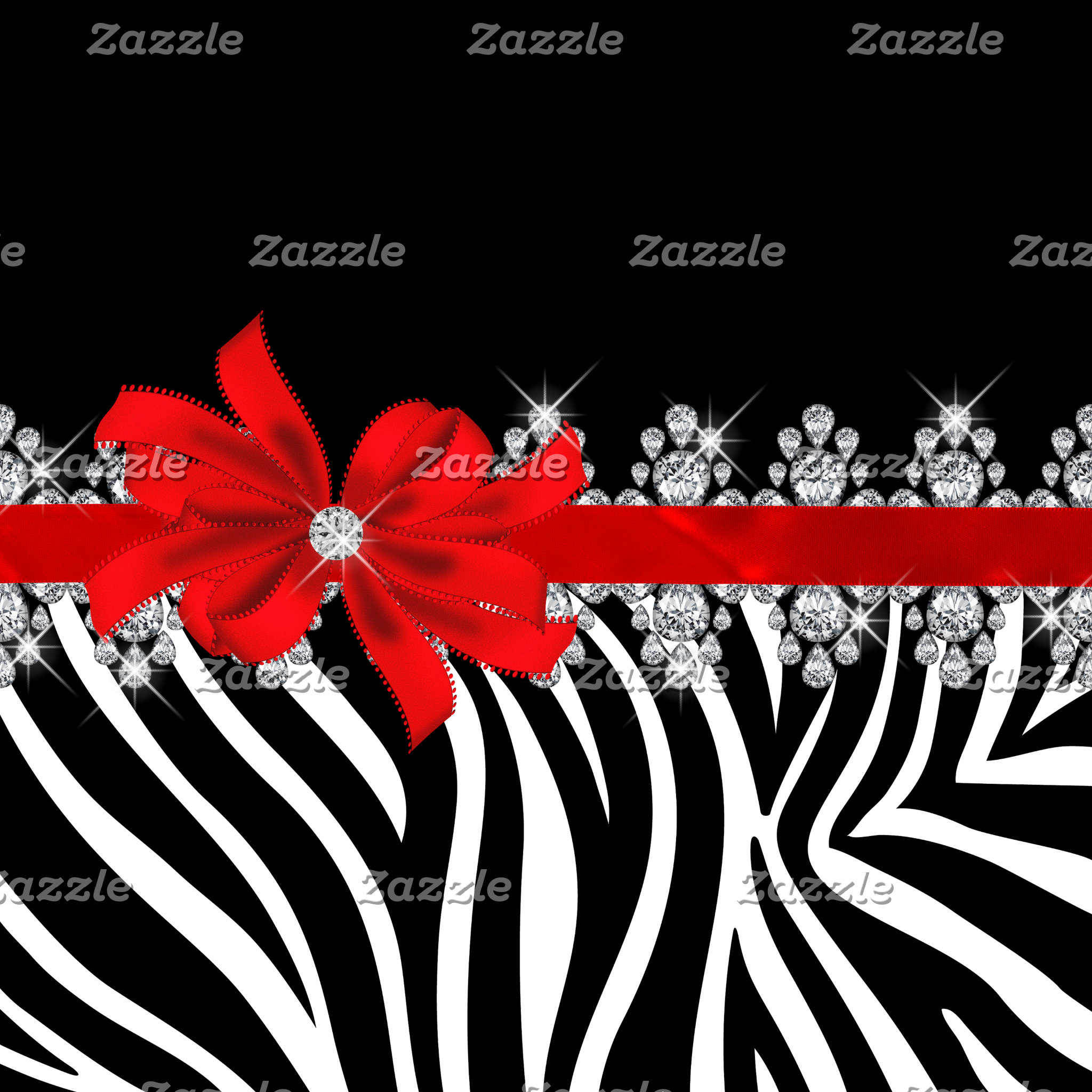 Diamond Delilah Zebra (Red)