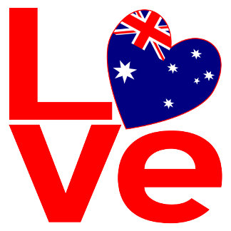 Australian Red LOVE Flag