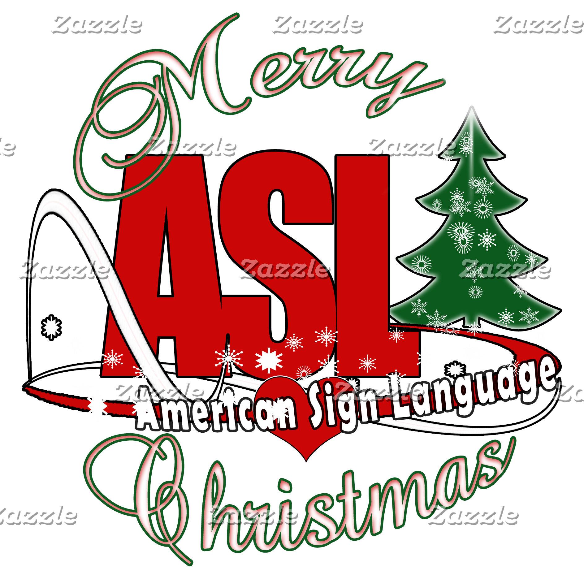 CHRISTMAS MERRY ASL