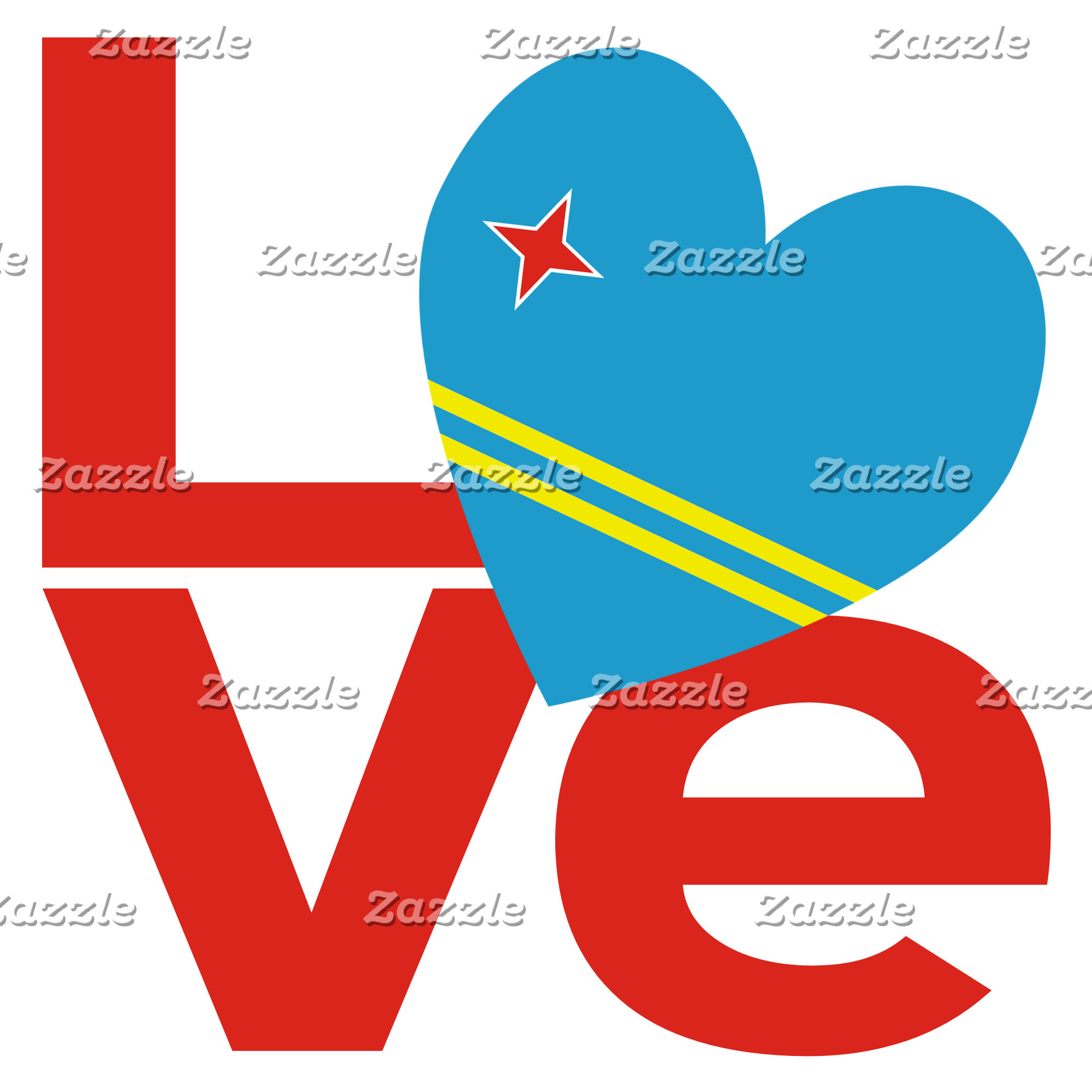 Aruba Red LOVE Flag