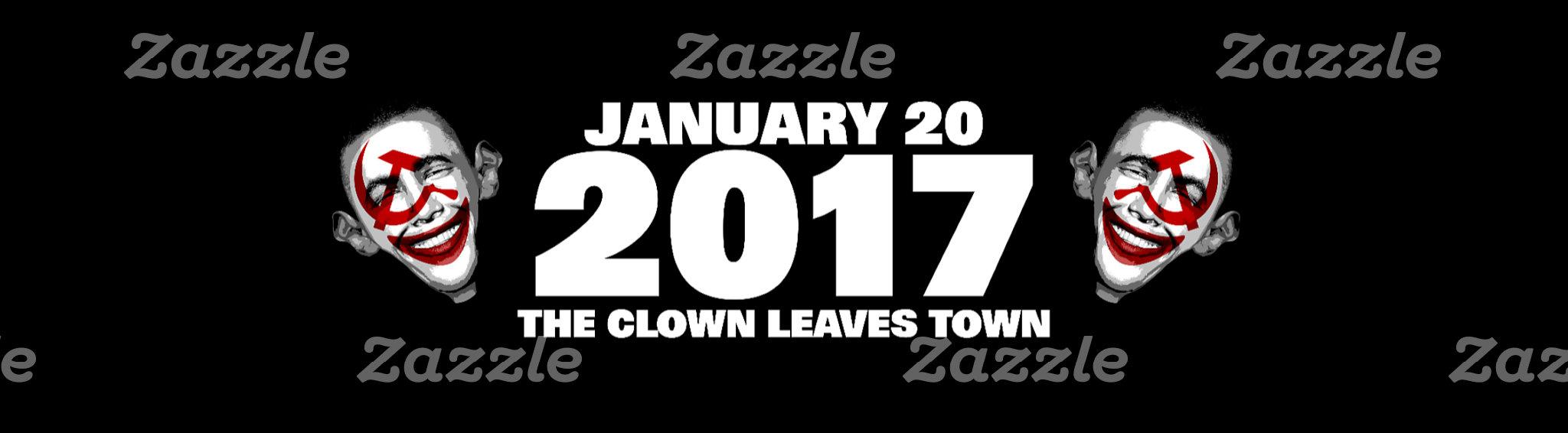 Anti obama | Clown Leaves Town