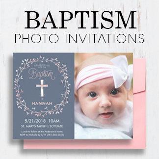 Baptism/Christening Photo Invitations