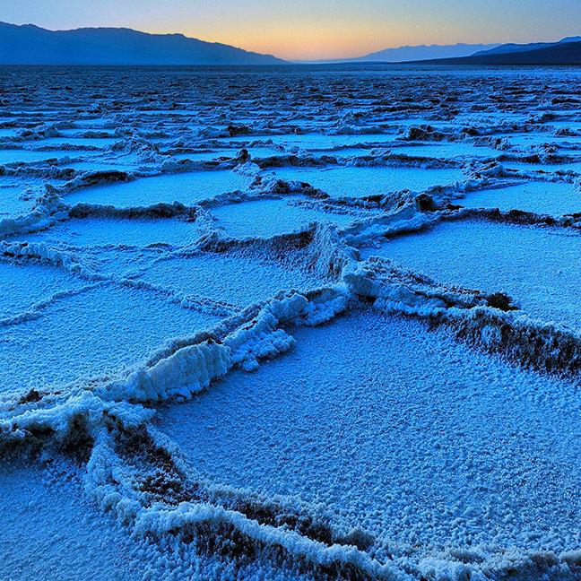 Badwater dusk, Death Valley, California
