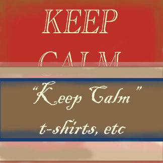 Keep Calm, t-shirts, postcards etc