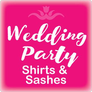Wedding Party Shirts & Sashes