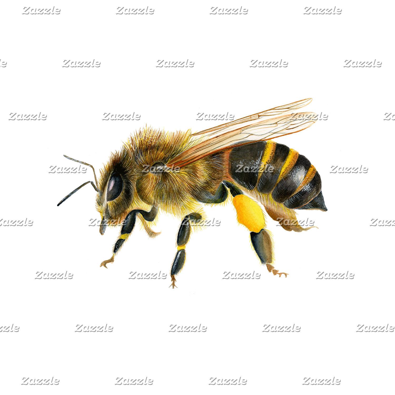 Honey Bee Watercolour Artwork