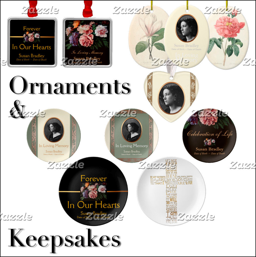 7 - Memorial Keepsakes Ornaments and Candles