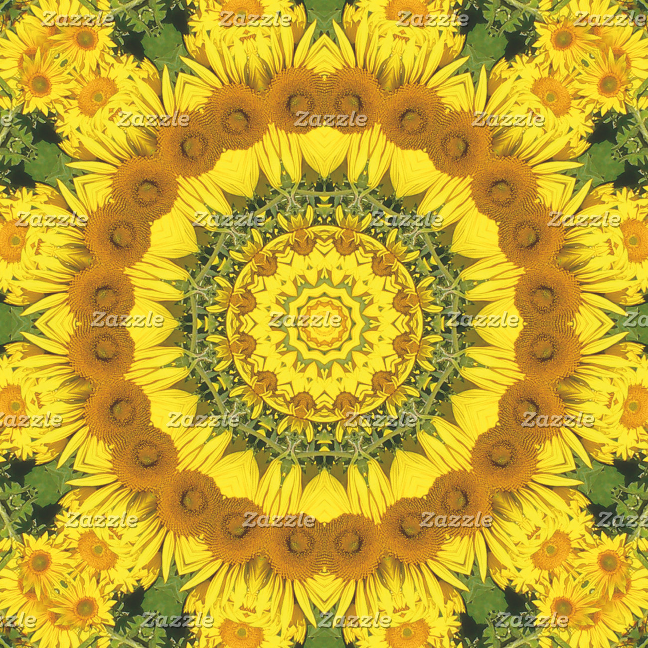 _ Sunflowers, Nature-Mandalas