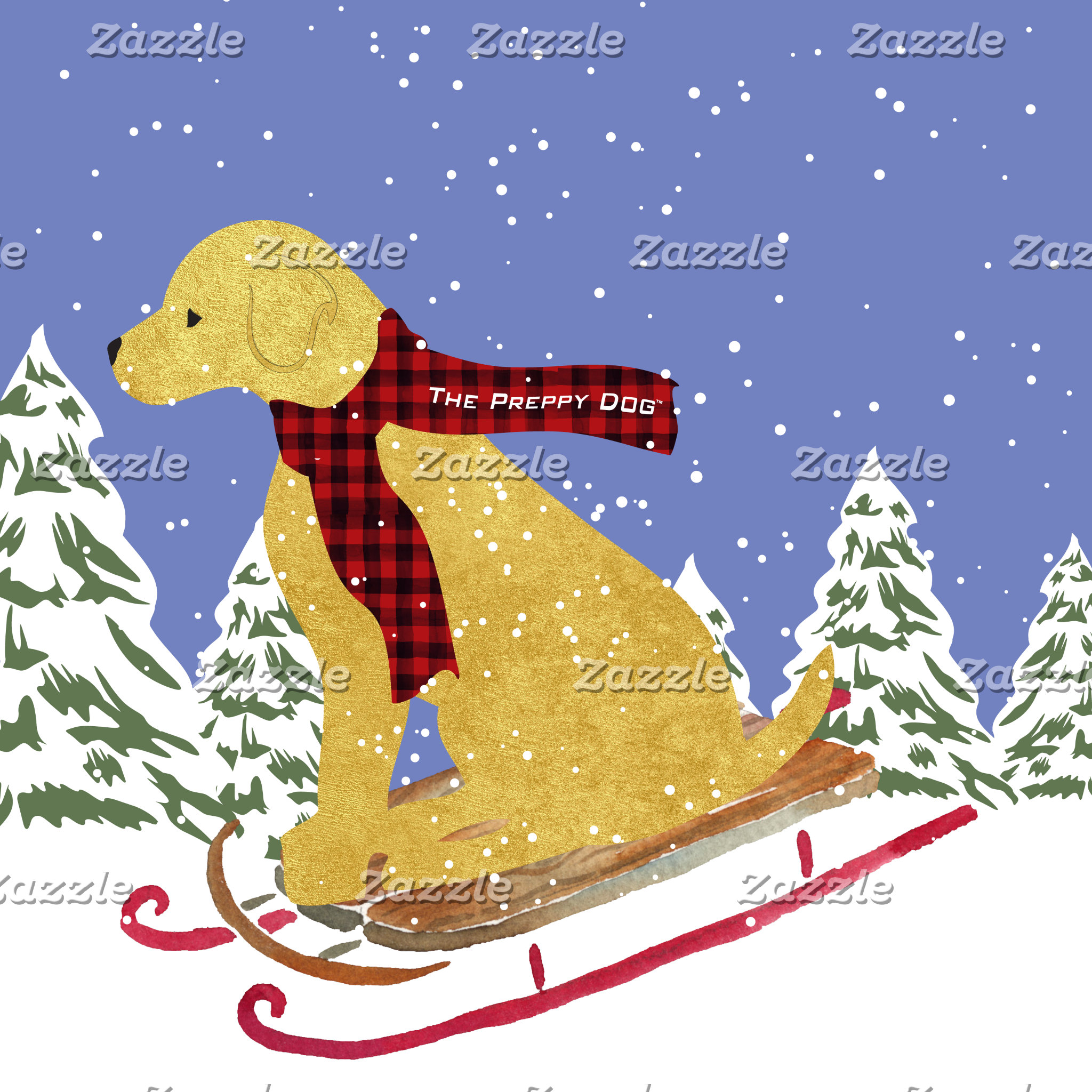 Golden Retriever Winter Sled
