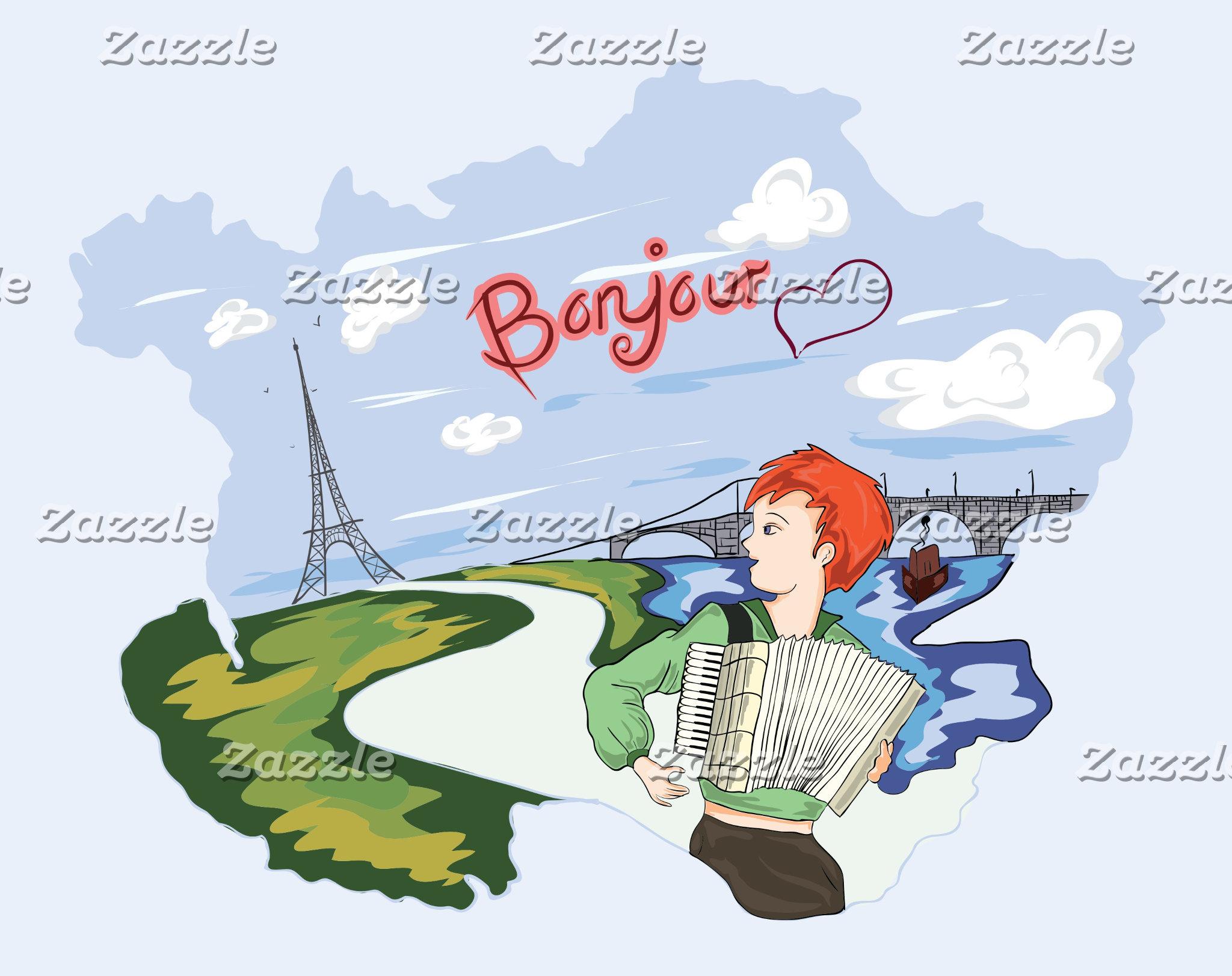 Cartoon Paris
