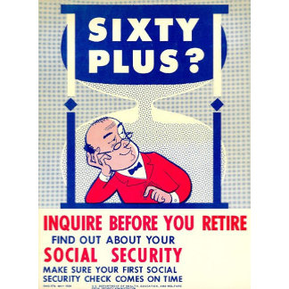 Social Security Vintage Reprint Posters
