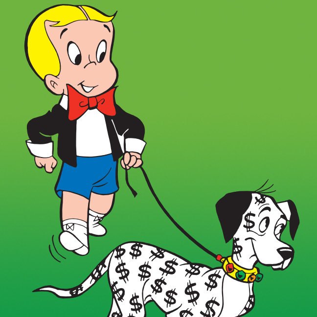 Richie Rich Walks Dollar the Dog