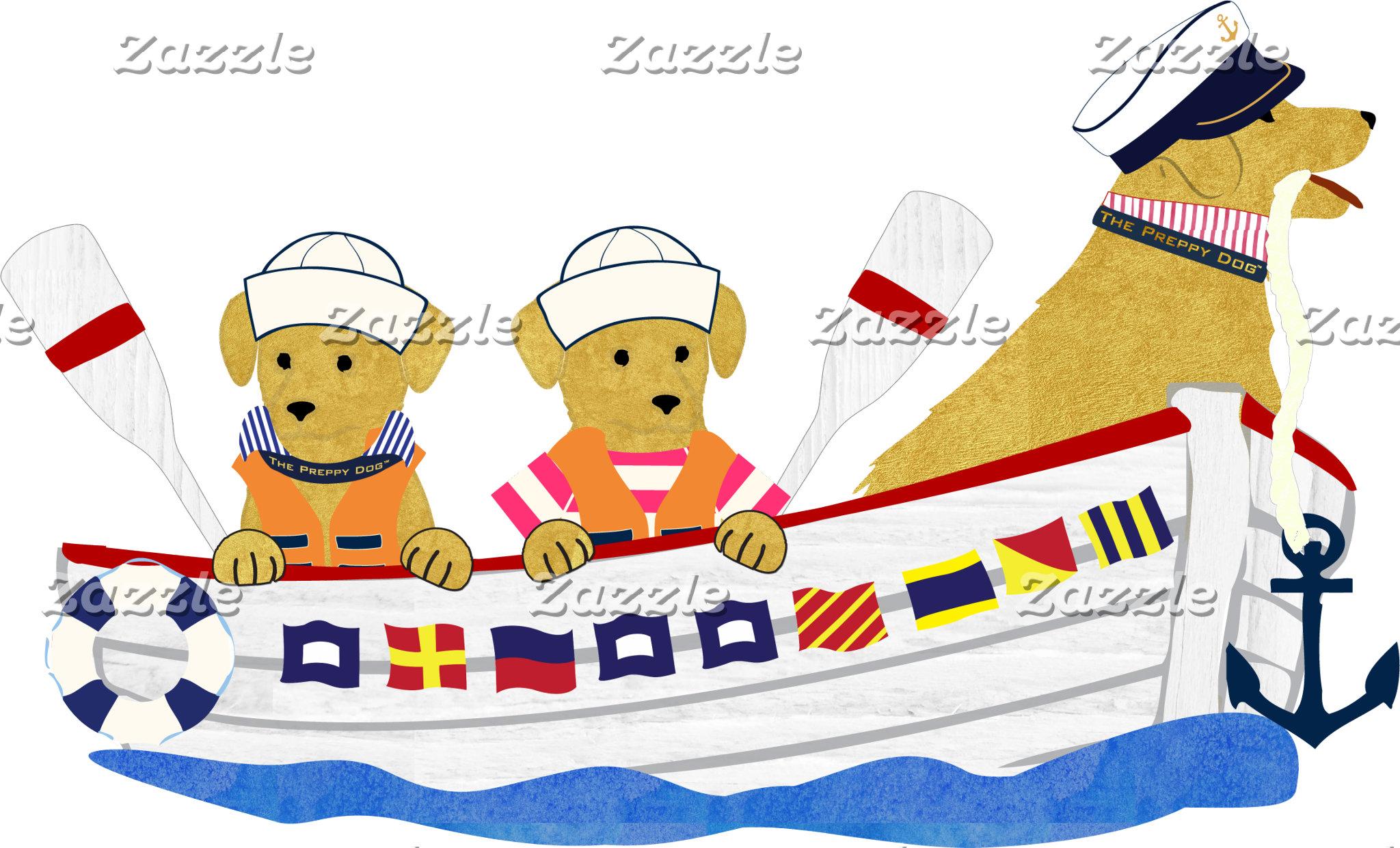 Nautical Preppy Dogs