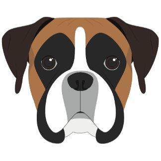 Cute Boxer Dog Portrait