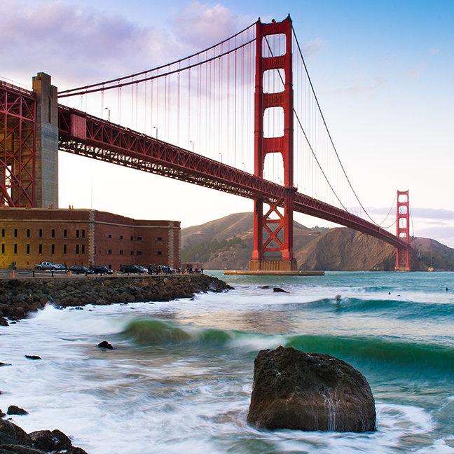 Classic Golden gate bridge.