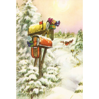 Winter Scenes with Christmas Themes