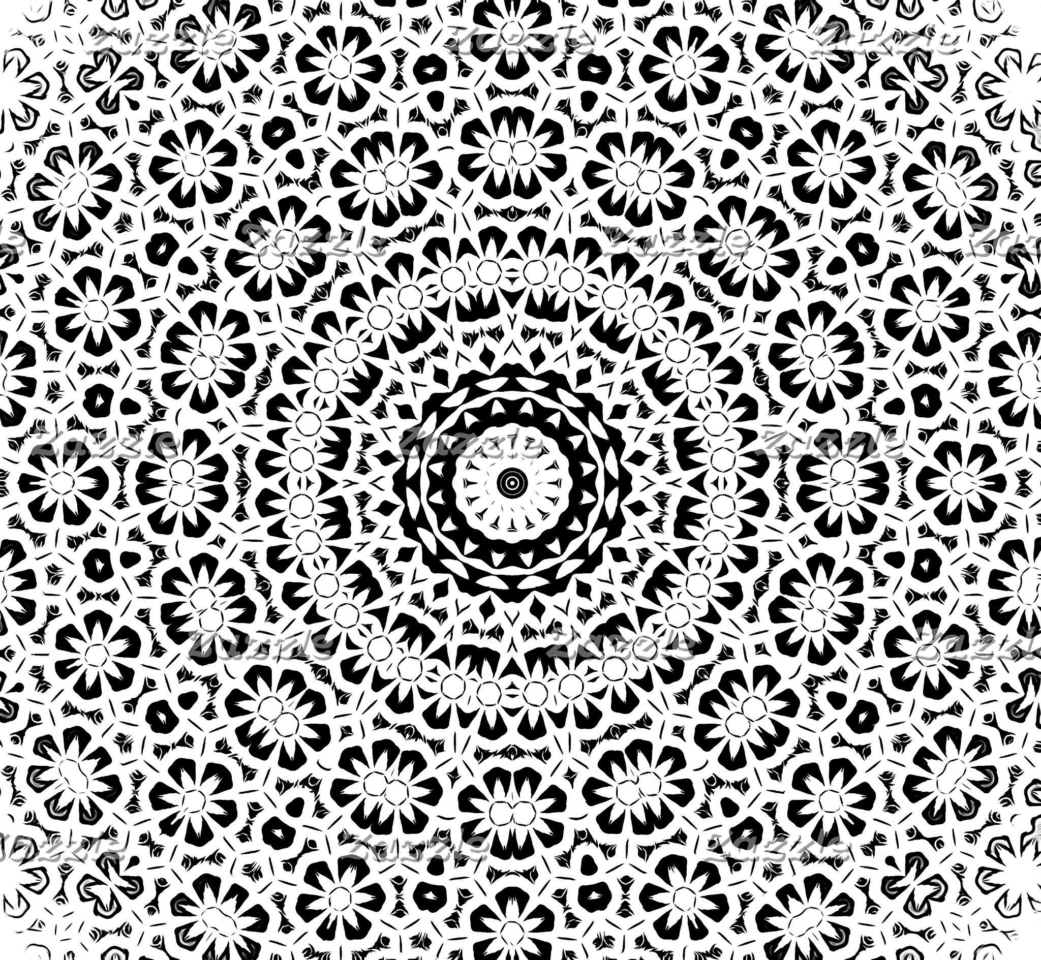 Black and White Kaleidoscope Pattern II