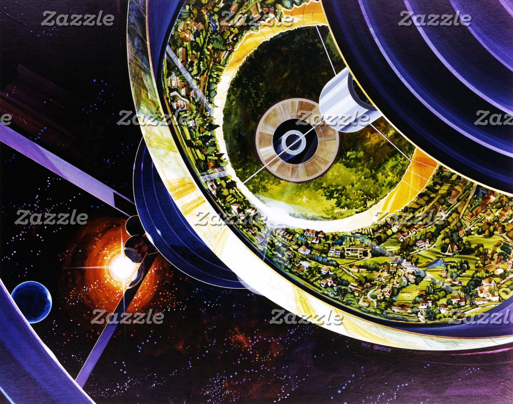 Spacecraft and Space Station Art