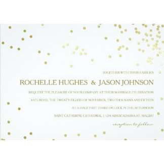 Faux Gold Foil Confetti Wedding