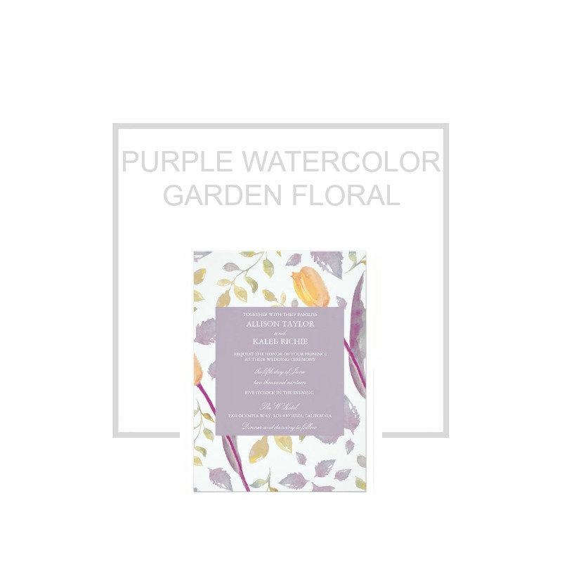 Purple Garden Floral