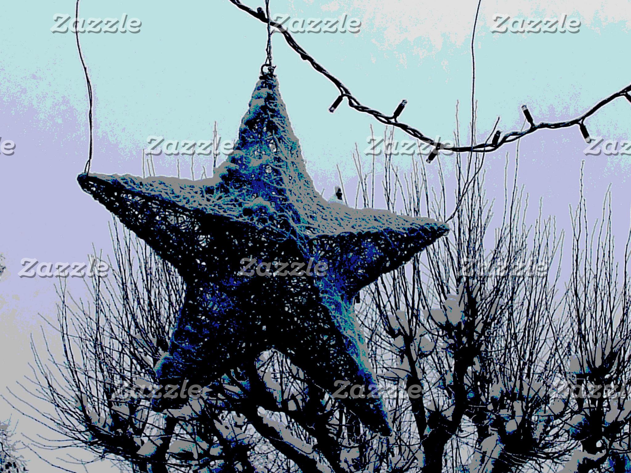 Christmas Blue Star