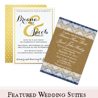 Featured Wedding Invitation Suites, Favors & More