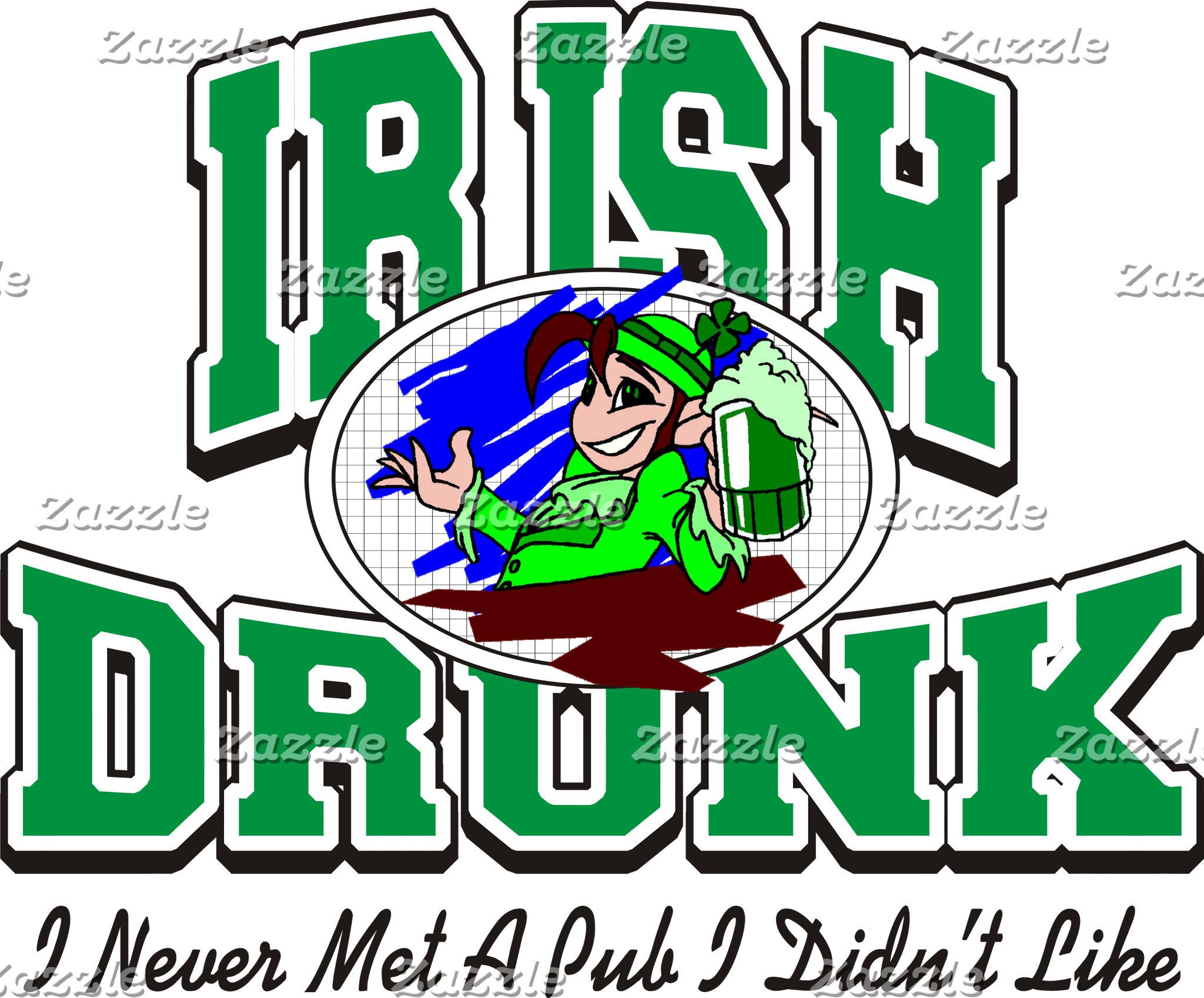 Funny Drunk Irish T-Shirts & Gifts